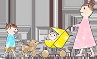 川崎市野上歯科医院 赤ちゃんとママイメージイラスト
